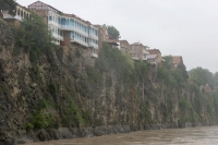 Picture of Houses at the bank of the Mtkvari River  - Georgia