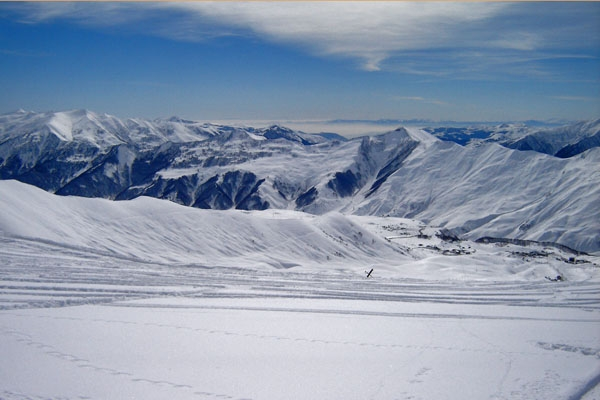 Envoyer photo de Georgian Winter landscape de Géorgie comme carte postale électronique