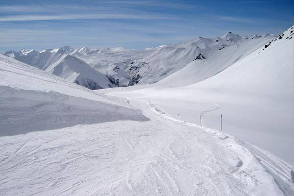 Send picture of One of the slopes of Gudauri ski area from Georgia as a free postcard