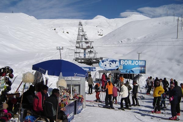 Stuur foto van The Gudauri ski area van Georgi als een gratis kaart