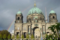 Foto van Rainbow over Berlin Cathedral - Germany