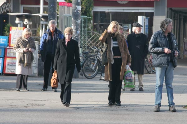 People in the streets of Munich