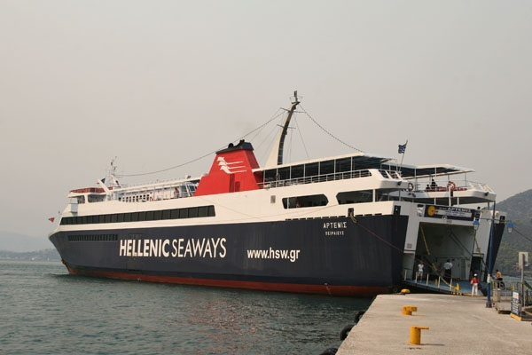 Send picture of Ferry sailing the Aegean sea from Greece as a free postcard