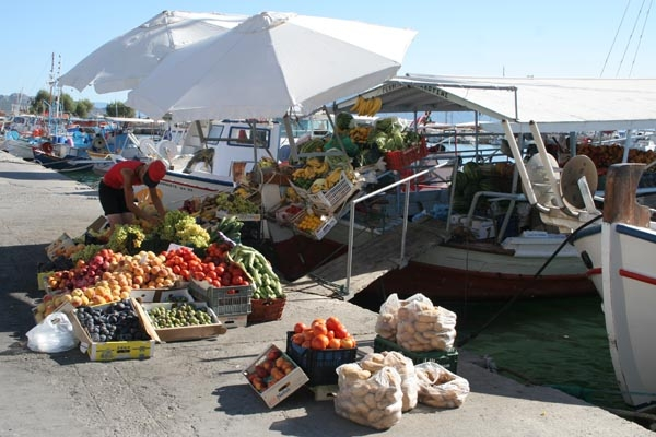 Fresh food has just been brought to the island of Hydra