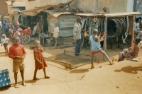 Picture of Bicycle repair shop in a Guinean village - Guinea