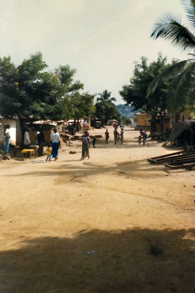 Send picture of Street in Guinean village from Guinea as a free postcard