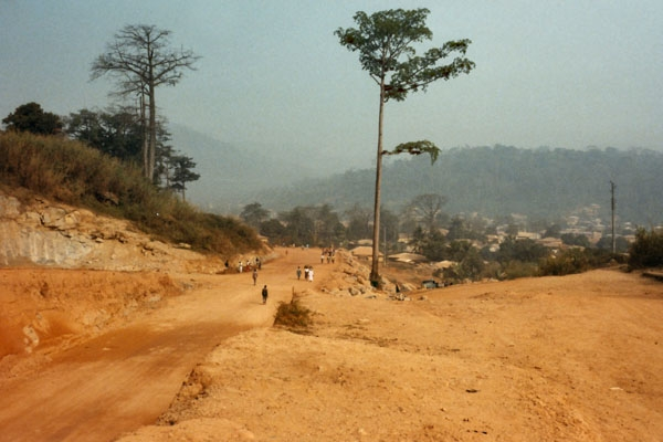 Send picture of Road in Macenta from Guinea as a free postcard