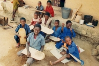 Foto van Children in Koran school - Guinea