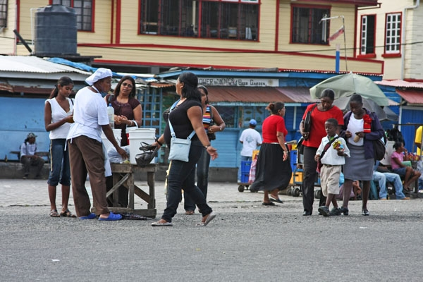 Send picture of Street life in Georgetown near Stabroek Market from Guyana as a free postcard