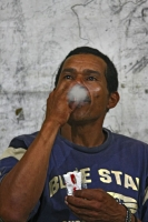 Picture of Man smoking a cigarette in central Guyana - Guyana
