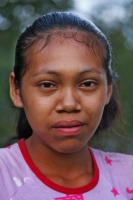 Picture of Young Amerindian woman in central Guyana - Guyana