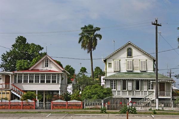 Stuur foto van Houses in Georgetown van Guyana als een gratis kaart