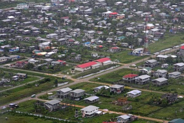 Stuur foto van View over houses in Georgetown van Guyana als een gratis kaart
