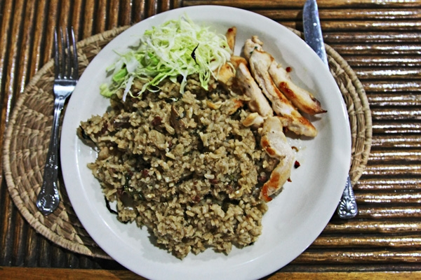 Send picture of Rice, beans and chicken from Guyana as a free postcard
