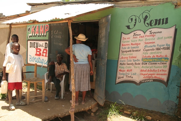Send picture of Grocery shop in Hinche from Haiti as a free postcard