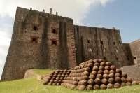 Picture of Citadelle Laferrière and cannonballs - Haiti