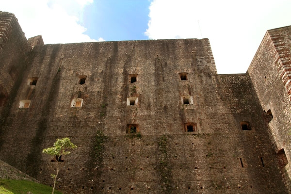 Send picture of The impressive walls of Citadelle Laferrire from Haiti as a free postcard