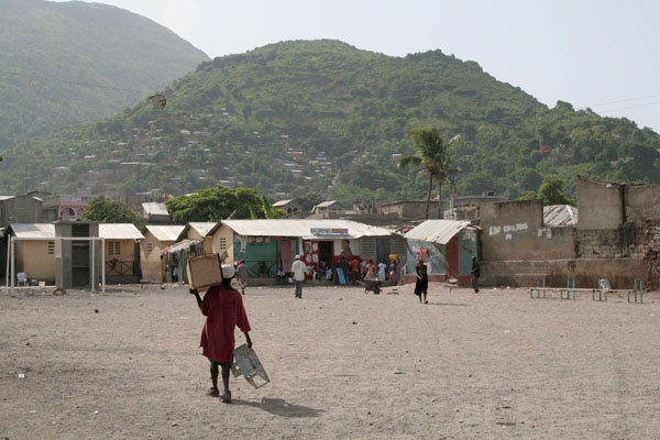 Send picture of Small square in Cap Haitien from Haiti as a free postcard