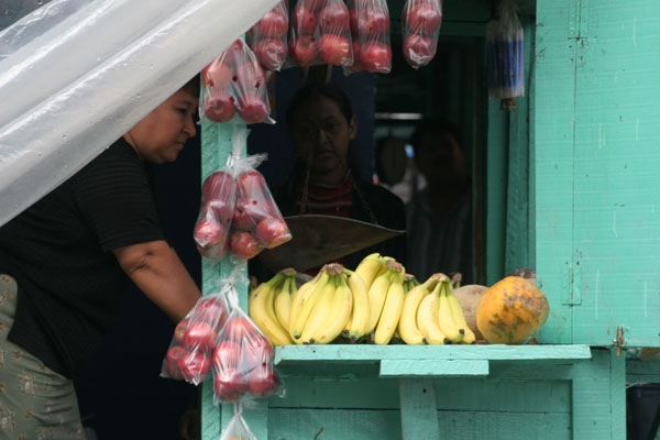 Send picture of Fruit stall in la Ceiba from Honduras as a free postcard