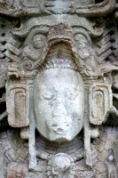 Foto di Detail from sculpture in Copn - Honduras