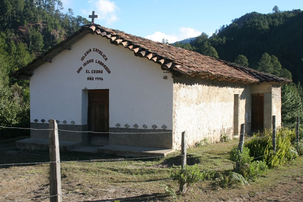 Modest church in Celaque