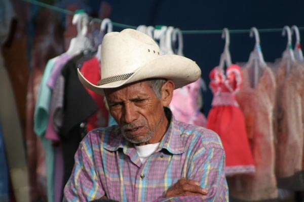 Man wearing typical Honduran hat