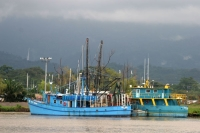 Foto van Boats at Utila Island - Honduras