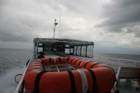 Foto van Ferry boat by the Caribbean coast - Honduras