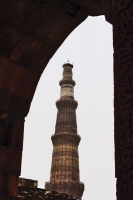 Foto van Qutab Minar is the tallest brick minaret in the world, and an important example of Indo-Islamic architecture - India