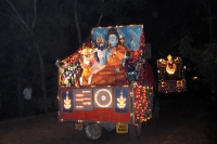 Picture of Decorated cars at a Hindu festival - India