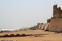 Foto van Beach and fortress in Trankebar - India
