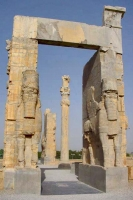 Foto van Entrance gate at Persepolis - Iran