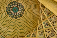 Picture of Ceiling of a mosque in Shiraz - Iran
