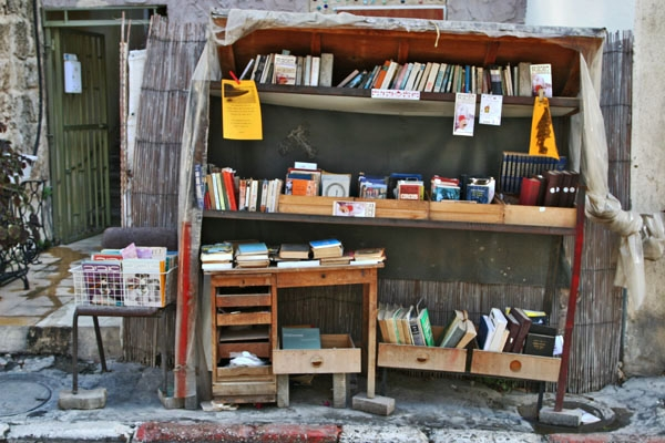 Send picture of Book stall in Tel Aviv from Israel as a free postcard