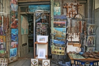 Foto van Shop selling religious artifacts in Jerusalem - Israel