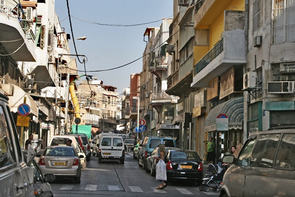Send picture of Street and cars in Tel Aviv from Israel as a free postcard