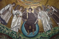 Foto di Paintings in a Ravenna church - Italy