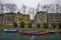 Foto van Houses, boats and canal in Venice - Italy