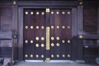 Foto van Doors of a Sapporo temple - Japan