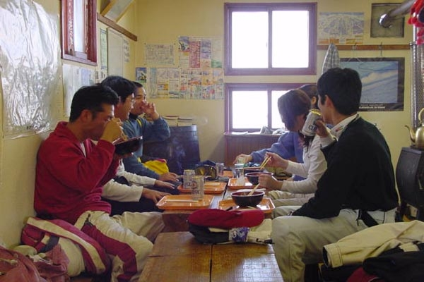 Send picture of Lunch time in Niseko  from Japan as a free postcard