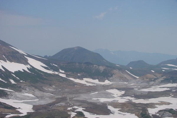 Snow-covered mountains in Daisetsuzan National Park, Hokkaido