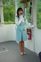 Photo de Japanese woman working in a gondola lift - Japan
