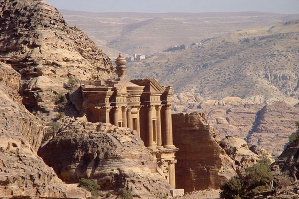 Send picture of Jordans trademark, the ancient city of Petra from Jordan as a free postcard