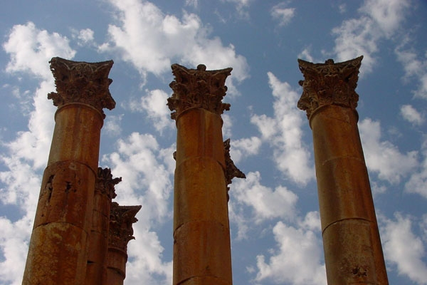 Enviar foto de There are many beautiful and interesting ruins in Jordan de Jordania como tarjeta postal eletr&oacute;nica