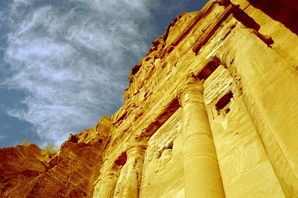 Send picture of One of the many beautiful buildings in Petra from Jordan as a free postcard