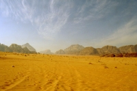 Photo de Desert road in Wadi Rum - Jordan
