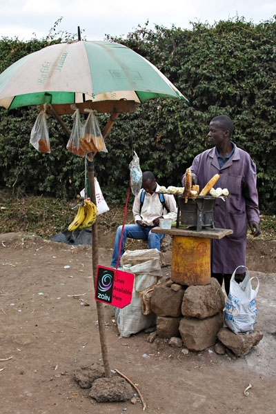 Send picture of Food stall in Karen from Kenya as a free postcard