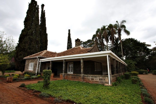 Stuur foto van Karen Blixen house van Kenia als een gratis kaart