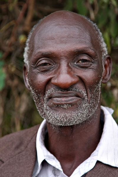 Send picture of Old man in Karen from Kenya as a free postcard