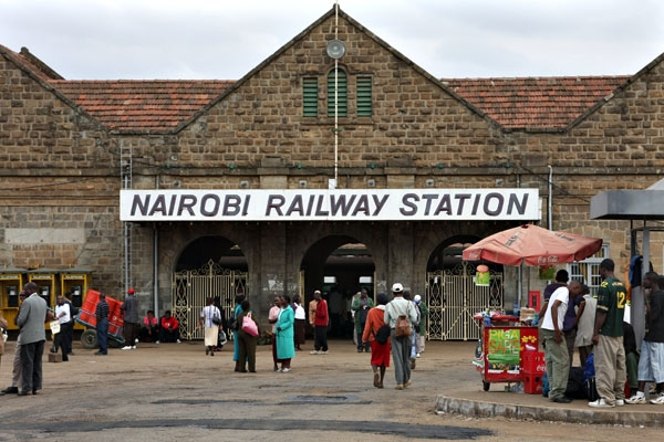 Send picture of Nairobi Railway Station from Kenya as a free postcard